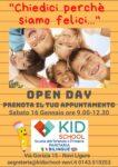 Open Day sabato 16 gennaio 2021